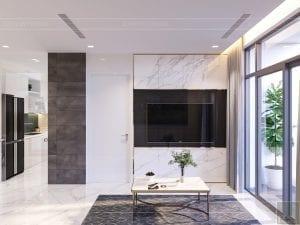 thiết kế nội thất chung cư 110m2 - phòng khách bếp 7