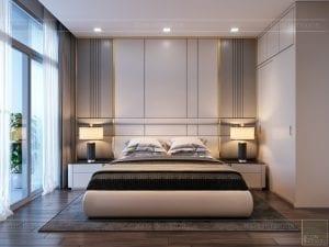 thiết kế nội thất chung cư 110m2 - phòng ngủ 3