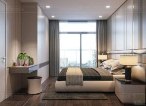 thiết kế nội thất chung cư 110m2 - phòng ngủ 1