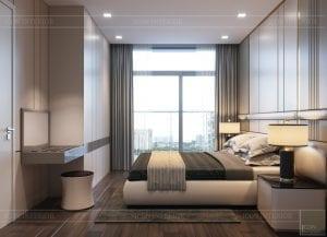 thiết kế nội thất chung cư 110m2 - phòng ngủ 2