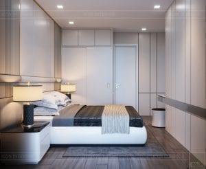 thiết kế nội thất chung cư 110m2 - phòng ngủ 4