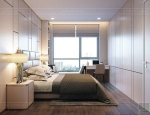 thiết kế nội thất chung cư 110m2 - phòng ngủ 5