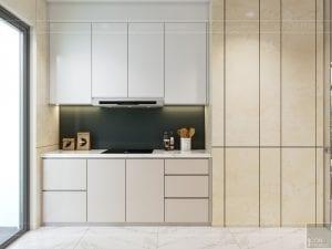 thiết kế nội thất chung cư 110m2 - phòng khách bếp 4