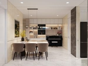 thiết kế nội thất căn hộ chung cư 110m2