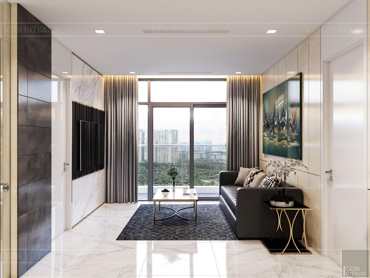 thiết kế nội thất chung cư 110m2 - phòng khách bếp 6