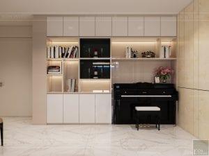 thiết kế nội thất chung cư 110m2 - phòng khách bếp 3