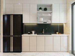 thiết kế nội thất chung cư 110m2 - phòng khách bếp 5