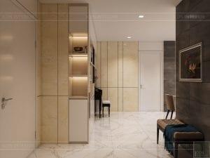 thiết kế nội thất chung cư 110m2 - tiền sảnh