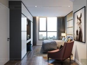 thiết kế nội thất chung cư 120m2 - phòng ngủ master 4