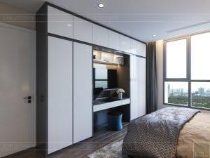 thiết kế nội thất chung cư 120m2 - phòng ngủ master 2