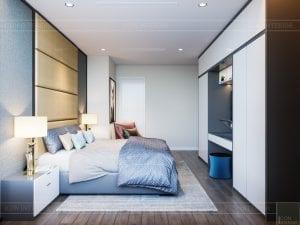 thiết kế nội thất chung cư 120m2 - phòng ngủ master 3