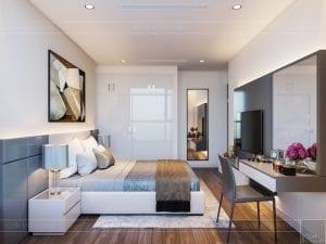 thiết kế nội thất chung cư 120m2 - phòng ngủ 4