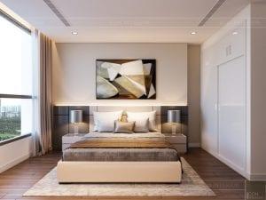 thiết kế nội thất chung cư 120m2 - phòng ngủ 2