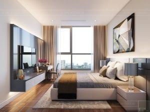 thiết kế nội thất chung cư 120m2 - phòng ngủ 1
