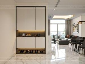 thiết kế nội thất chung cư 120m2 - tiền sảnh