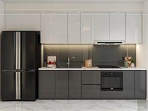 thiết kế nội thất chung cư 120m2 - phòng khách bếp 7