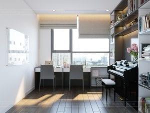 thiết kế nội thất chung cư 120m2 - phòng đa năng