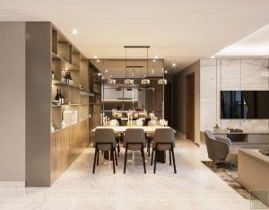 thiết kế nội thất đẹp hiện đại - phòng ăn