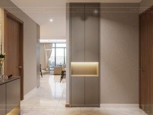 thiết kế nội thất đẹp hiện đại - tiền sảnh 1