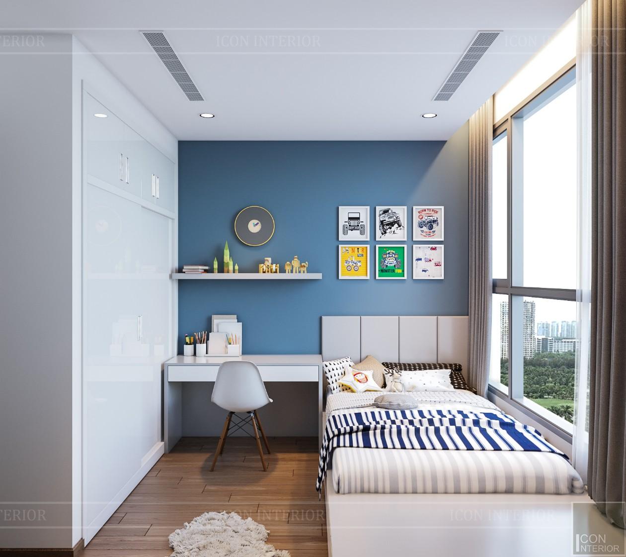 thiết kế nội thất đẹp hiện đại - phòng ngủ bé trai 2