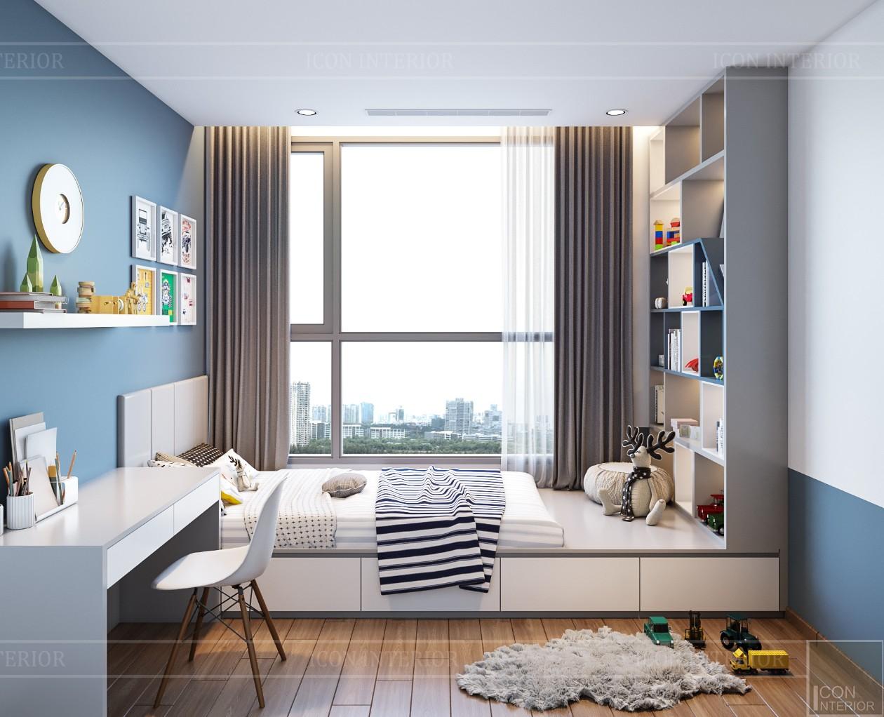 thiết kế nội thất đẹp hiện đại - phòng ngủ bé trai 1