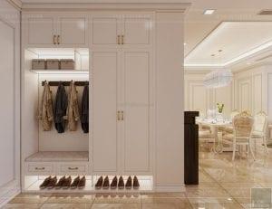 thiết kế nội thất lux 6 vinhomes golden river - phòng khách bếp 1