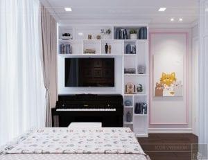thiết kế nội thất lux 6 vinhomes golden river - phòng ngủ bé 3