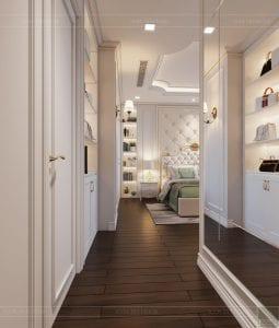 thiết kế nội thất lux 6 vinhomes golden river - phòng ngủ master 1