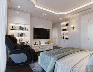 thiết kế nội thất lux 6 vinhomes golden river - phòng ngủ master 5