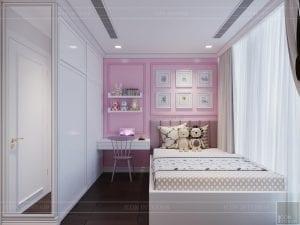 thiết kế nội thất lux 6 vinhomes golden river - phòng ngủ bé 2