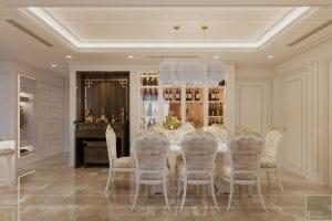 thiết kế nội thất lux 6 vinhomes golden river - phòng ăn 3