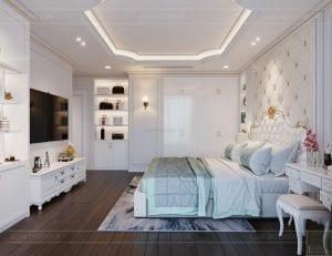 thiết kế nội thất lux 6 vinhomes golden river - phòng ngủ master 4