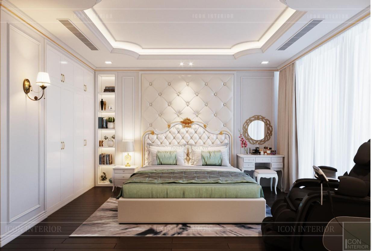 thiết kế nội thất lux 6 vinhomes golden river - phòng ngủ master 2