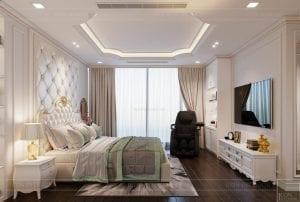 thiết kế nội thất lux 6 vinhomes golden river - phòng ngủ master 3