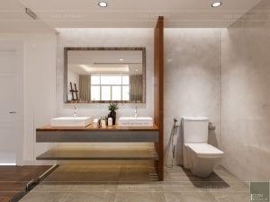 thiết kế nội thất căn hộ ocean vista - phòng vệ sinh 3