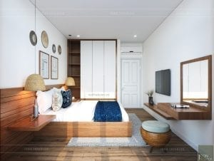 thiết kế nội thất căn hộ ocean vista - phòng ngủ 3