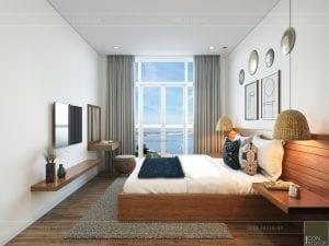 thiết kế nội thất căn hộ ocean vista - phòng ngủ 1