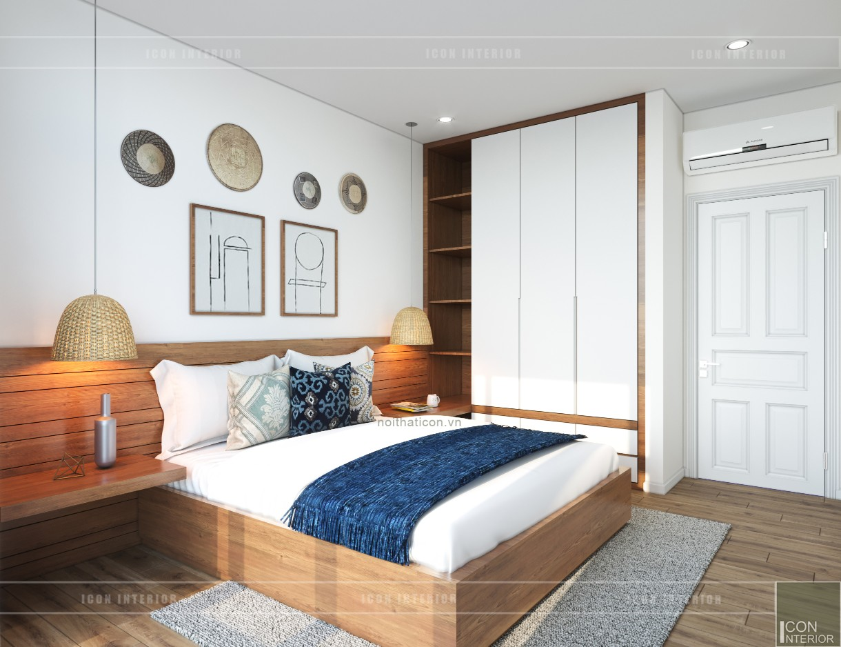 thiết kế nội thất căn hộ ocean vista - phòng ngủ 4