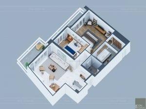 thiết kế nội thất căn hộ ocean vista - tổng quan