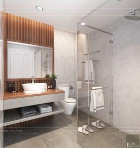 thiết kế nội thất căn hộ ocean vista - phòng vệ sinh 1