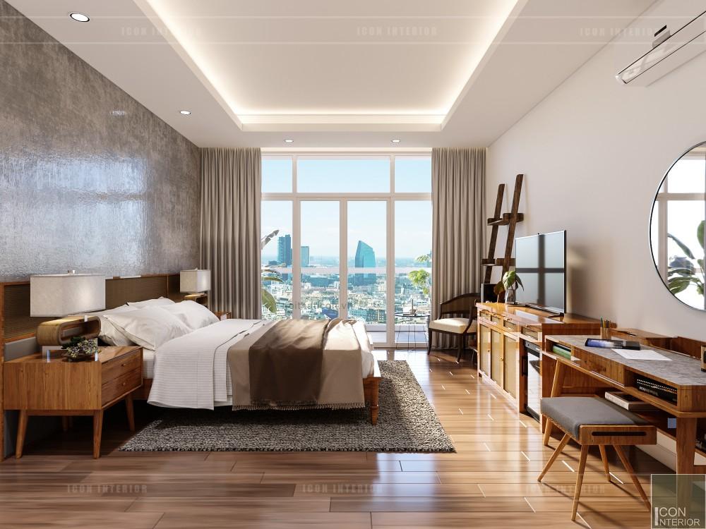thiết kế nội thất căn hộ ocean vista - phòng ngủ master 1