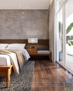 thiết kế nội thất căn hộ ocean vista - phòng ngủ master 3
