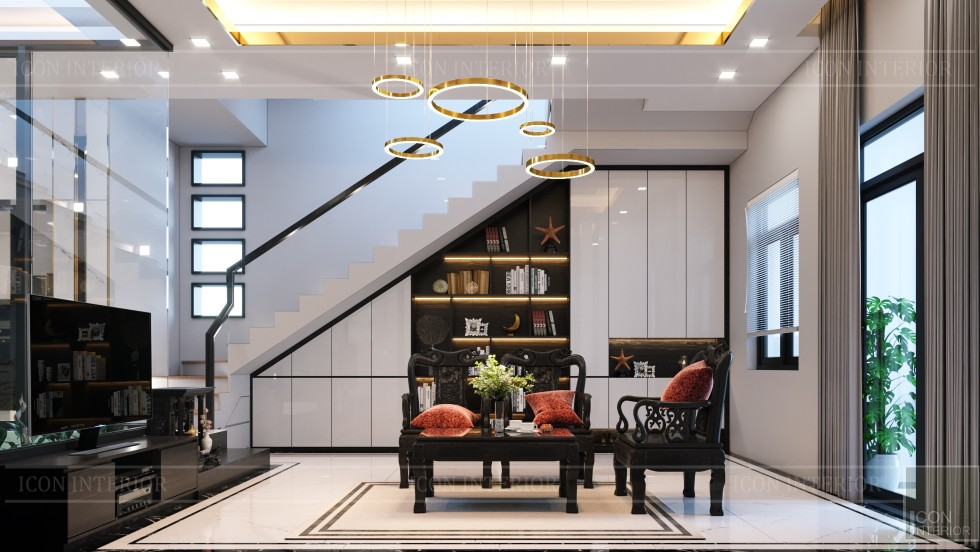 thiết kế nội thất nhà phố đẹp với gỗ tự nhiên 6