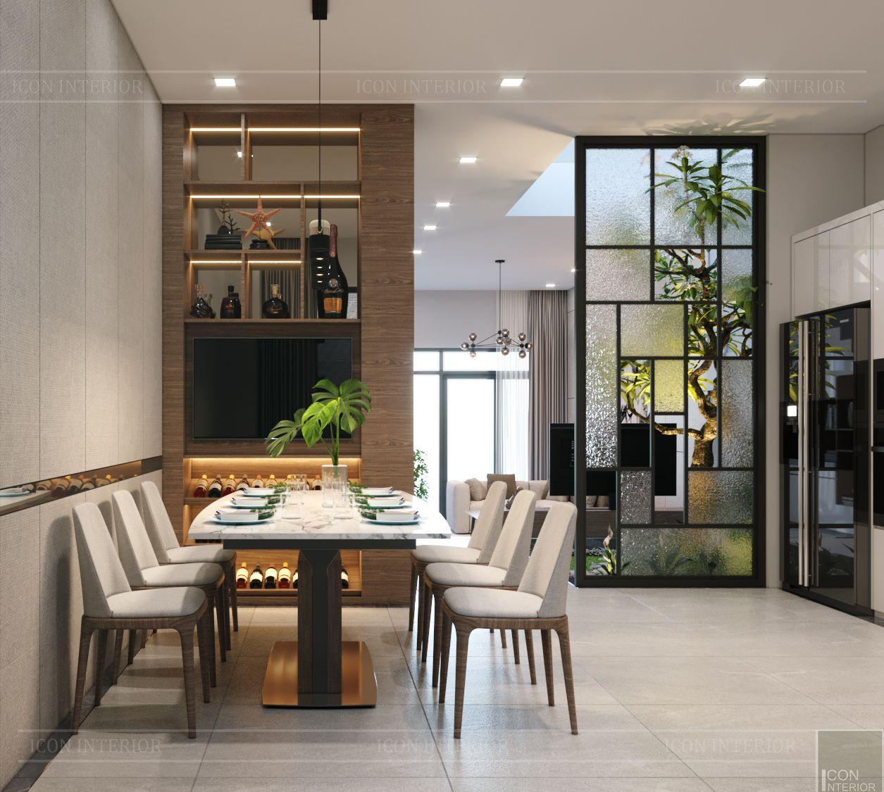 thiết kế nội thất nhà phố đẹp - phòng ăn 1
