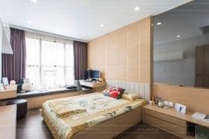 thi công căn hộ the sun avenue - phòng ngủ 1