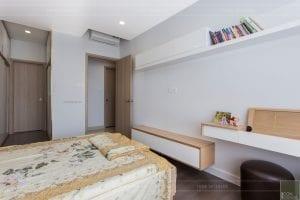 thi công căn hộ the sun avenue - phòng ngủ 4