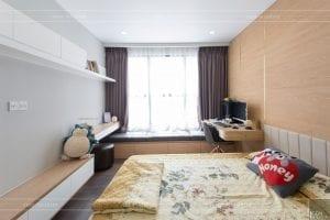 thi công căn hộ the sun avenue - phòng ngủ 2