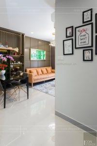 thi công căn hộ the sun avenue - phòng khách bếp 2