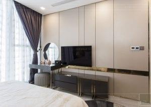 thi công căn hộ chung cư vinhomes ba son - phòng ngủ master 1