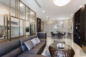 thi công căn hộ chung cư vinhomes ba son - phòng khách bếp 5